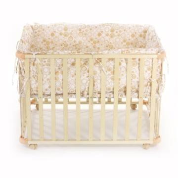 Baby Vivo 34534555 Laufgitter Holz 4-Eck mit Softeinlage 100 x 75 cm, creme - 5