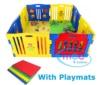 Laufgitter, 8-seitig, Plastik, faltbar, mit Spielematten, NEU ! - 1