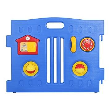 Laufgitter, 8-seitig, Plastik, faltbar, mit Spielematten, NEU ! - 3