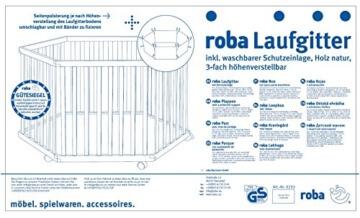 Roba 0232W V148 Laufgitter, Adam und Eule, 6-eckig - 5